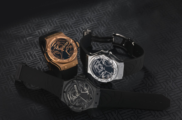 black rubber strap replica Hublot Big Bang Black Jaguar - White Tiger Foundation